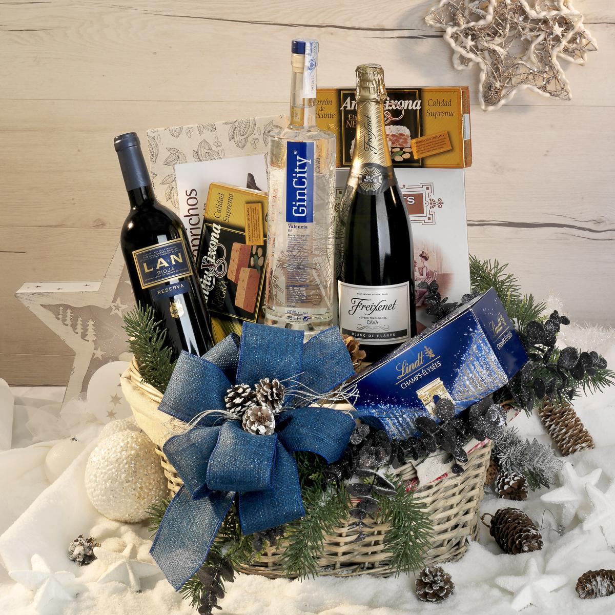 Fotografía producto, cesta de navidad LaMont