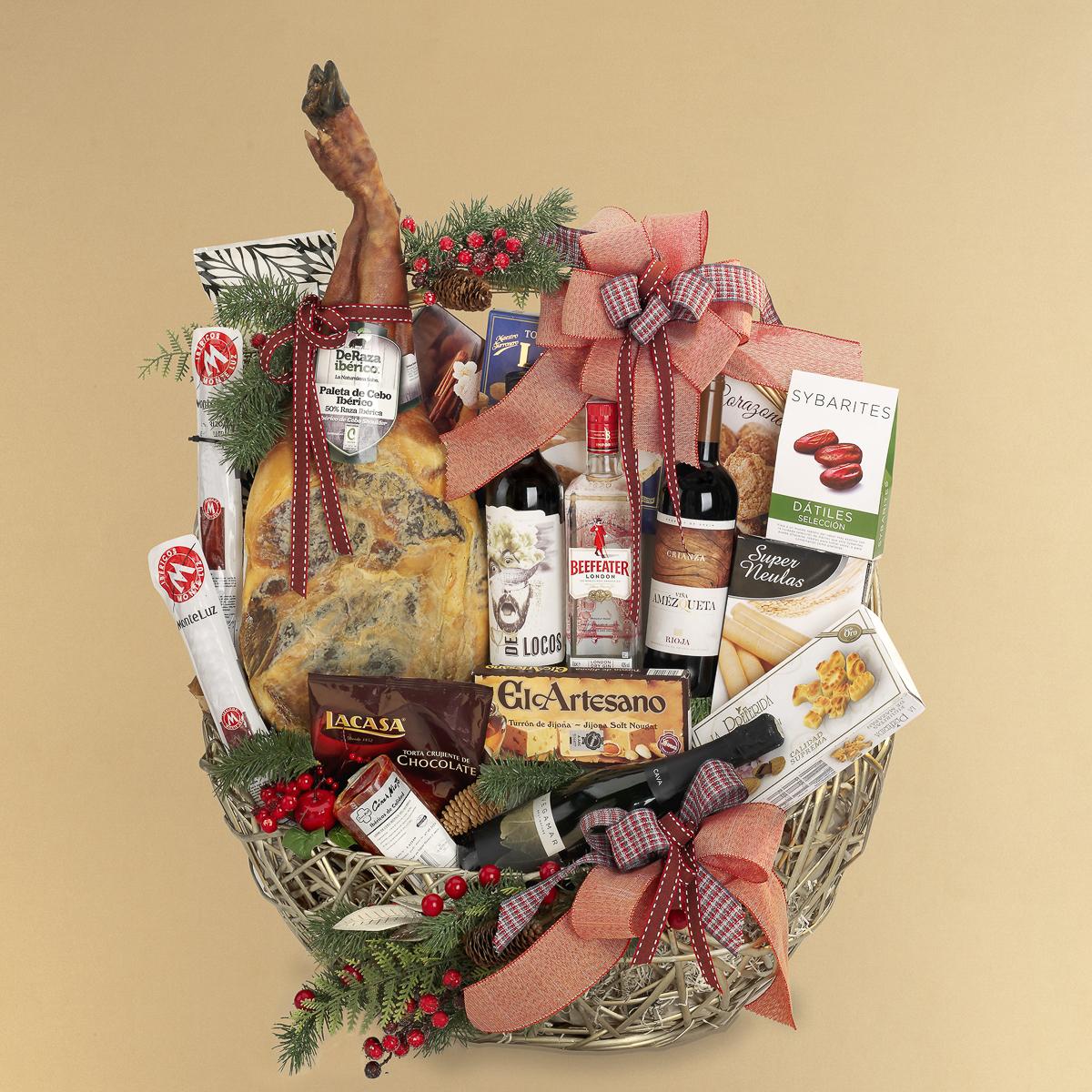 Fotografía producto, cesta de Navidad grupo Disber
