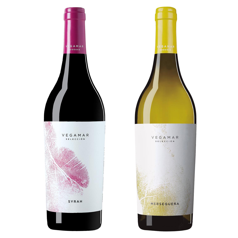 Fotografía producto, vinos monovarietales Vegamar