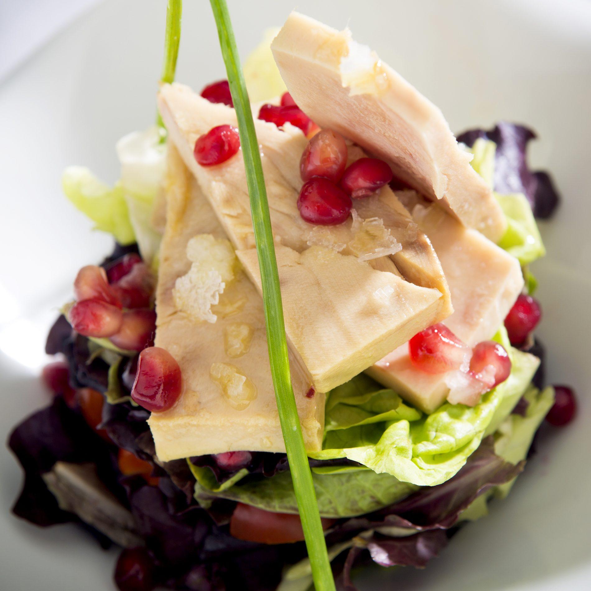 Fotografía de Alimentación. Ensalada de ventresca, carta Restaurante