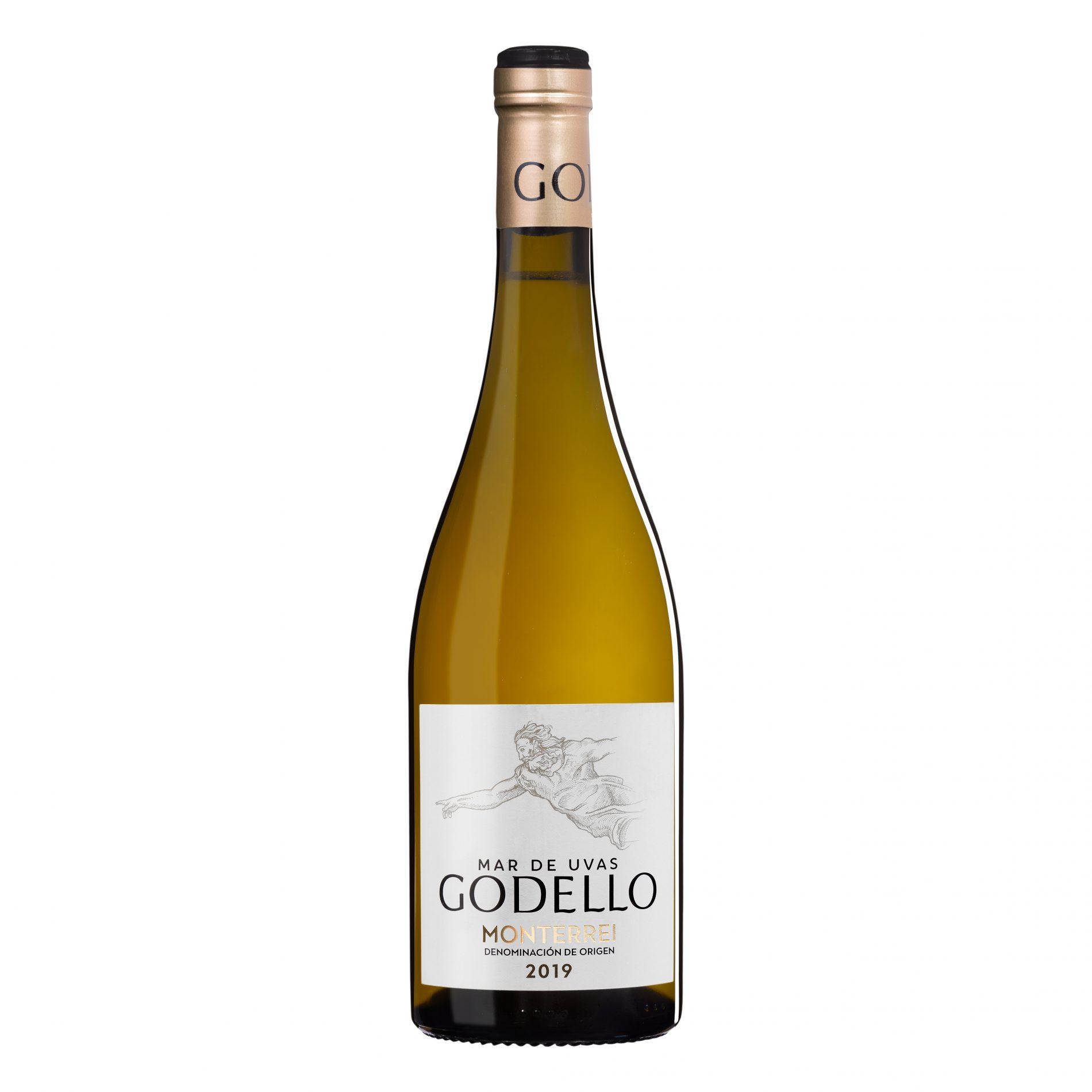Fotografía de Producto. Botella Vino Blanco Godello.