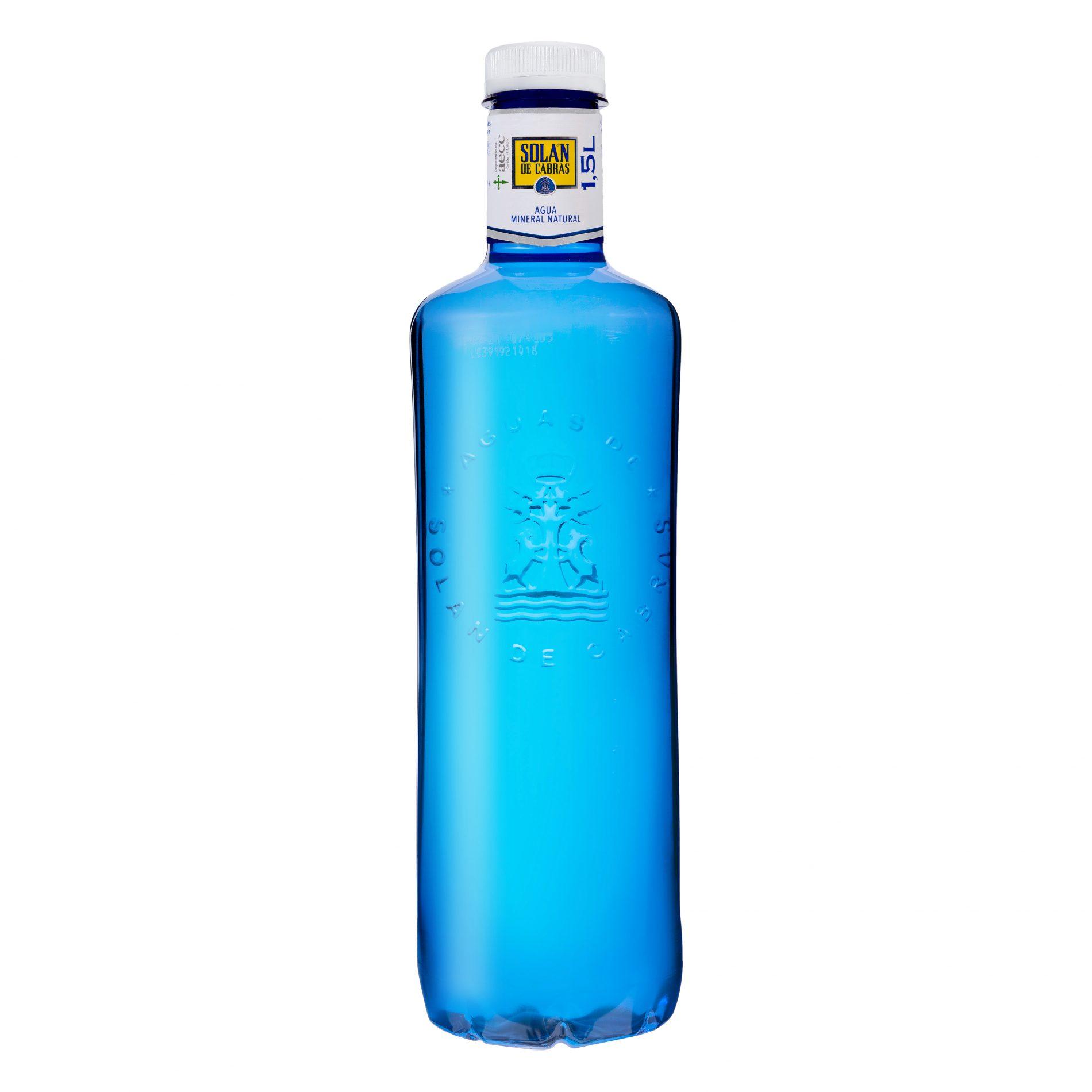 Fotografía Producto. Botella agua Solán de Cabras.